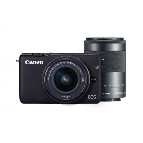 Canon EOS M10 EF-M 15-45mm f/3.5-6.3 IS STM & EF-M 55-200mm f/4.5-6.3 IS STM Kit