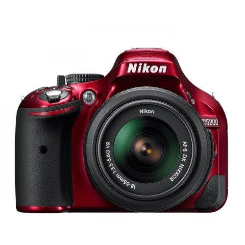 Nikon D5200 Digital SLR Camera - Red - Two Lens Kit
