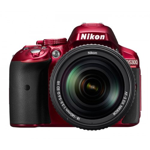 Nikon D5300 Digital SLR Camera - Red - 18-55mm VR II Lens Kit