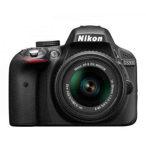 Nikon D3300 Digital SLR Camera - Black - Two Lens Kit