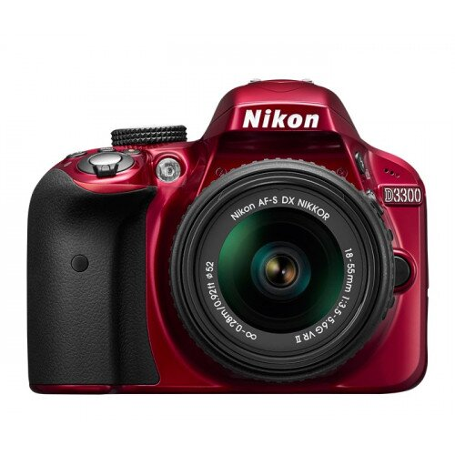 Nikon D3300 Digital SLR Camera - Red - 18-55mm VR Lens Kit