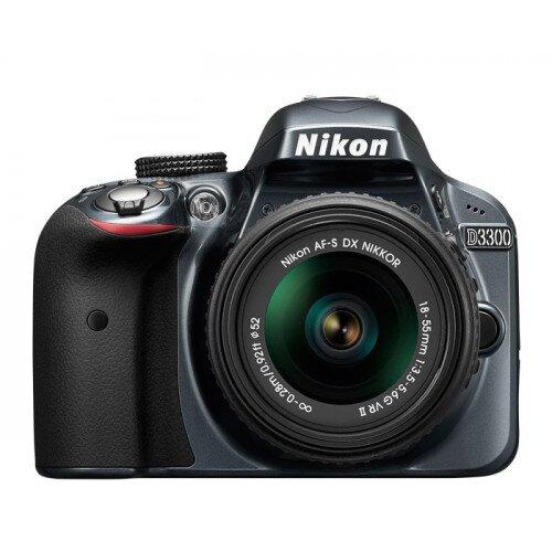 Nikon D3300 Digital SLR Camera - Grey - 18-55mm VR Lens Kit