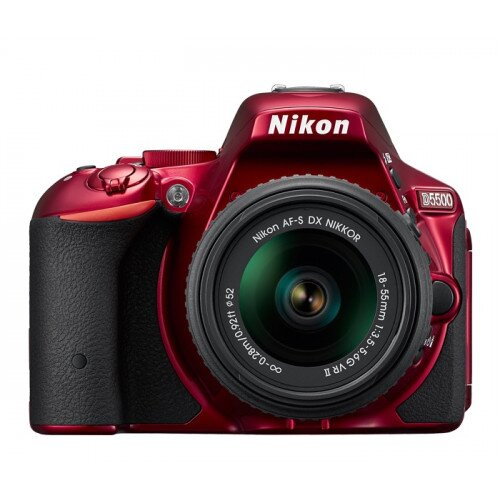 Nikon D5500 Digital SLR Camera - Red - Body only
