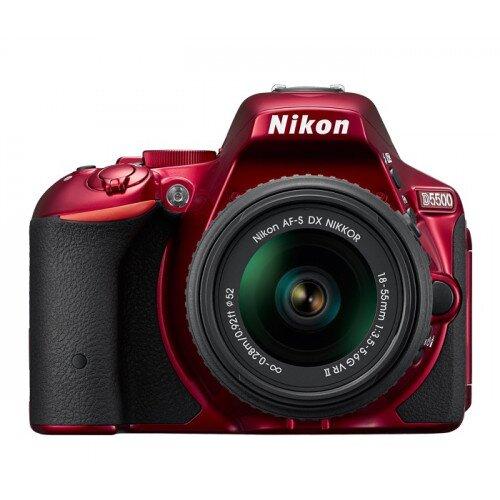 Nikon D5500 Digital SLR Camera - Red - 18-55mm VR II Lens Kit