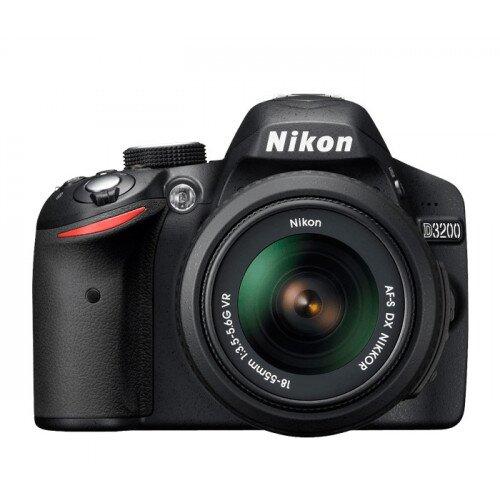 Nikon D3200 Digital SLR Camera - Black - Double Zoom Lens and Case Kit