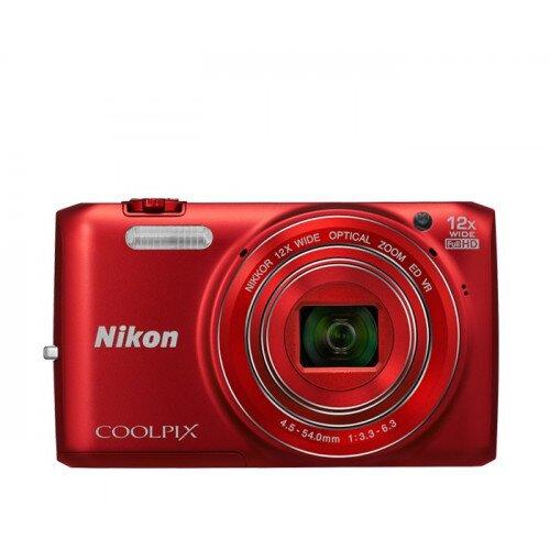 Nikon COOLPIX S6800 Compact Digital Camera - Red