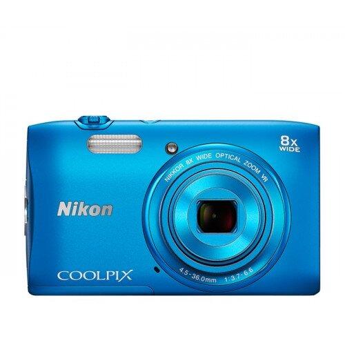 Nikon COOLPIX S3600 Compact Digital Camera - Blue