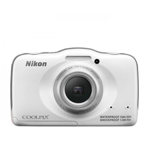Nikon COOLPIX S32 Compact Digital Camera - White