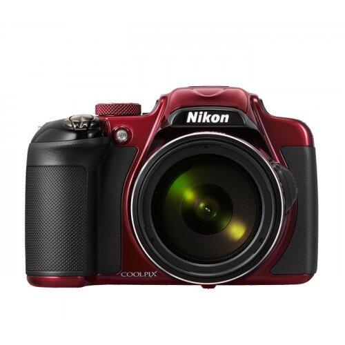 Nikon COOLPIX P600 Compact Digital Camera - Red