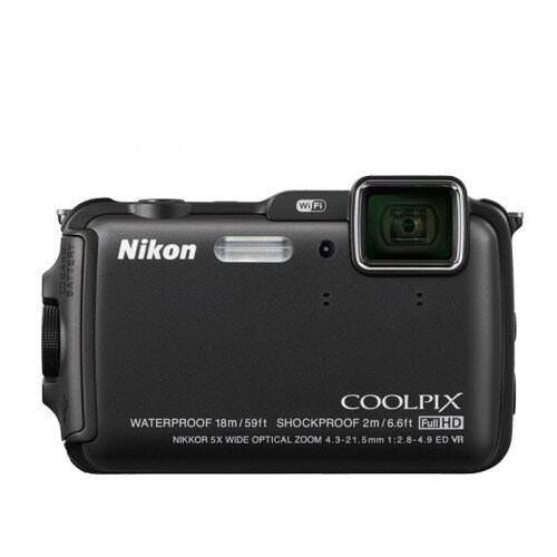 Nikon COOLPIX AW120 Compact Digital Camera - Black