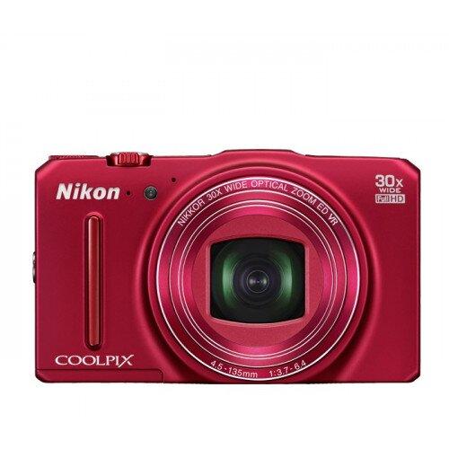 Nikon COOLPIX S9700 Compact Digital Camera - Red