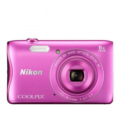 Nikon COOLPIX S3700 Compact Digital Camera - Pink