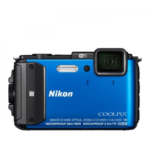 Nikon COOLPIX AW130 Compact Digital Camera - Blue