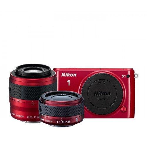 Nikon 1 S1 Camera - Red - Two-Lens Kit