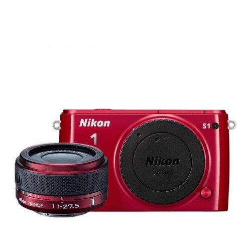 Nikon 1 S1 Camera - Red - One-Lens Kit