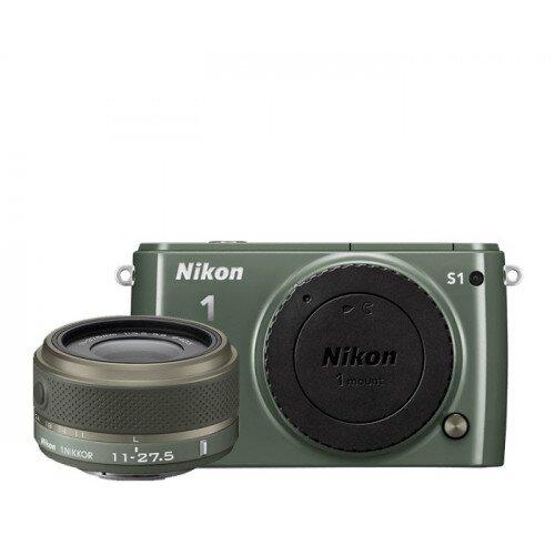 Nikon 1 S1 Camera - Khaki - One-Lens Kit