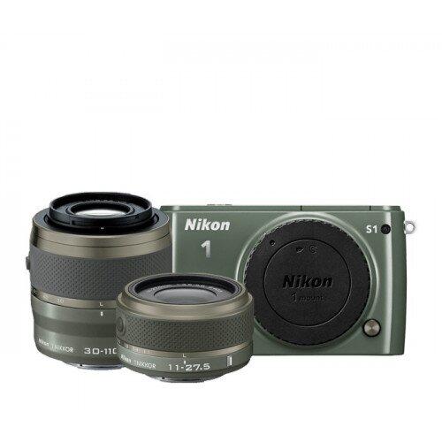 Nikon 1 S1 Camera - Khaki - Two-Lens Kit
