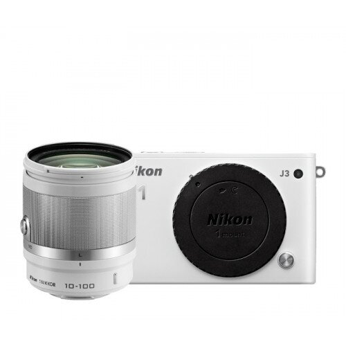Nikon 1 J3 Camera - White - All-In-One Lens Kit