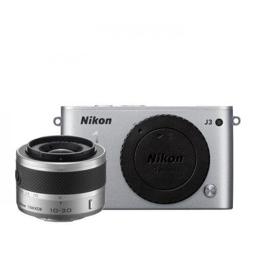 Nikon 1 J3 Camera - Silver - One-Lens Kit