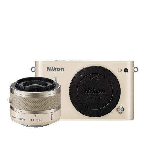 Nikon 1 J3 Camera - Beige - One-Lens Kit