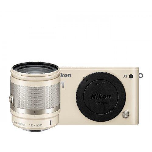 Nikon 1 J3 Camera - Beige - All-In-One Lens Kit