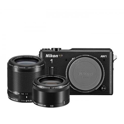 Nikon 1 AW1 Camera - Black - Two-Lens-Kit