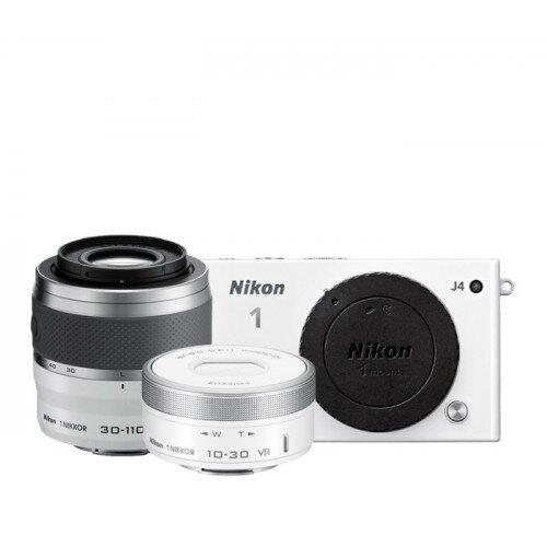 Nikon 1 J4 Camera - White - Two Lens Zoom