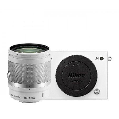 Nikon 1 J4 Camera - White - All-In-One Lens Kit