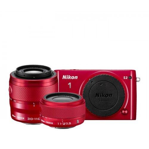 Nikon 1 S2 Camera - Red - Two-Lens Kit