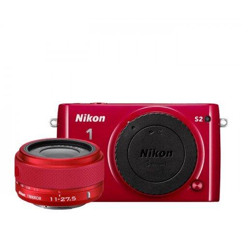 Nikon 1 S2 Camera - Red - One-Lens Kit