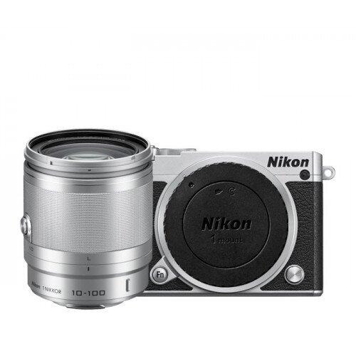 Nikon 1 J5 Camera - Silver - All-In-One Lens Kit