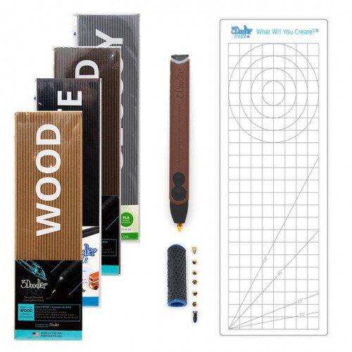 3Doodler Create+ Deluxe 3D Printing Pen Set - Full Grain Leather