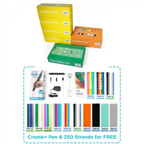 3Doodler EDU Create+ Learning Pack (12 Pens) with FREE Pen and 10 Plastic Packs