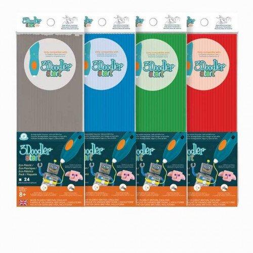 3Doodler Start Eco-Plastic Bundle Primary Pow! 4-Pack