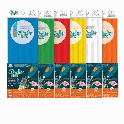 3Doodler Start Eco-Plastic Bundle Really Rainbow 6-Pack