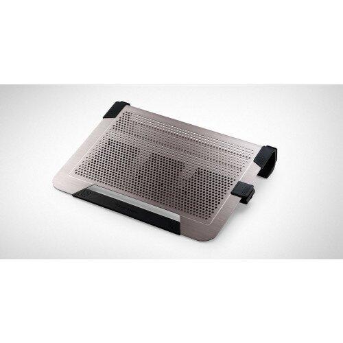 Cooler Master Notepal U3 Plus Moveable Fan Aluminum Cooling Pad - Titanium