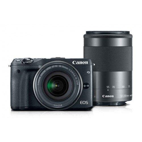 Canon EOS M3 EF-M 18-55mm IS STM & EF-M 55-200mm STM Lens Kit Mirrorles Camera