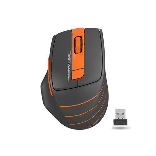 A4Tech FSTYLER 2000 DPI 2.4G Wireless Mouse - Orange