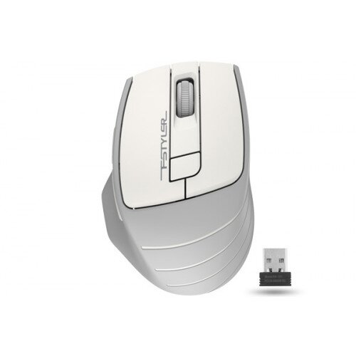A4Tech FSTYLER 2000 DPI 2.4G Wireless Mouse - White