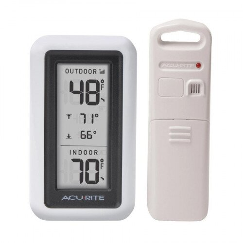 """AcuRite 4.5"""" White Digital Outdoor Thermometer"""