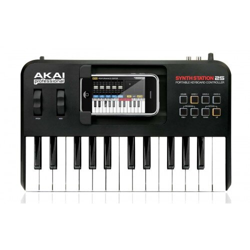 Akai Professional SynthStation25 Piano Keyboard for iPhone and iPod Touch
