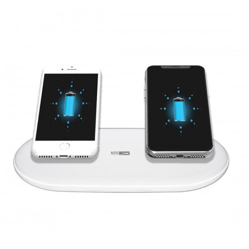 Altec Lansing 15 Watt Dual Position Wireless Charging Pad - White