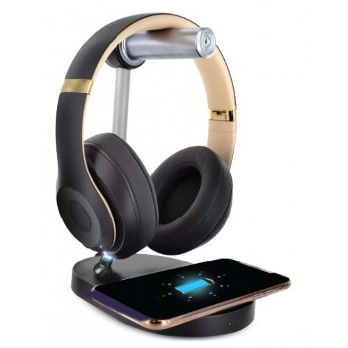 Altec Lansing Wireless Headset Hanger Charger With Charging Pad