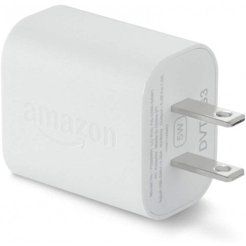 Amazon 5W USB Official OEM Charger and Power Adapter for Fire Tablets and Kindle eReaders - White