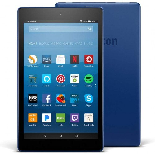 """Amazon Fire HD 8 Tablet with Alexa 8"""" HD Display - 16GB - With Special Offers - Marine Blue"""