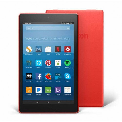 """Amazon Fire HD 8 Tablet with Alexa 8"""" HD Display - 16GB - With Special Offers - Punch Red"""