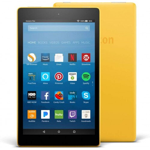 """Amazon Fire HD 8 Tablet with Alexa 8"""" HD Display - 16GB - With Special Offers - Canary Yellow"""