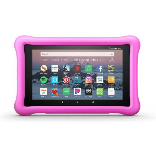 Amazon Kid-Proof Case for Amazon Fire HD 8 Tablet (Compatible with 7th and 8th Generation Tablets, 2017-2018 Releases) - Pink