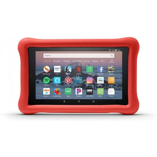 Amazon Kid-Proof Case for Amazon Fire HD 8 Tablet (Compatible with 7th and 8th Generation Tablets, 2017-2018 Releases) - Punch Red