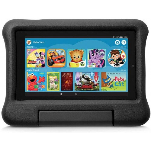 Amazon Kid-Proof Case for Fire 7 Tablet (Compatible with 9th Generation Tablet, 2019 Release) - Black